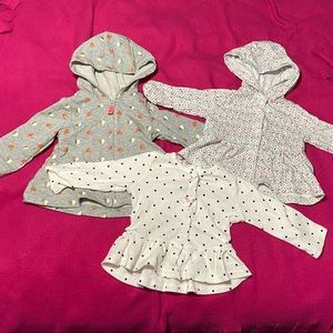 3 baby girl tops from Carter 3m